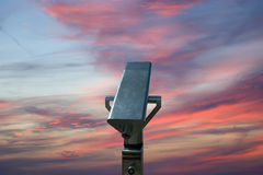 Telescope viewer (tourist type telescope) Royalty Free Stock Photography