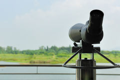 Telescope in wetland park Royalty Free Stock Images
