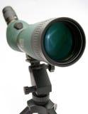 Telescope  on white. White small tripod Stock Photography
