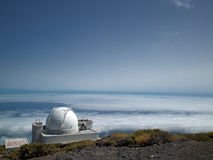 Telescopes at the highest top of La Palma Stock Images