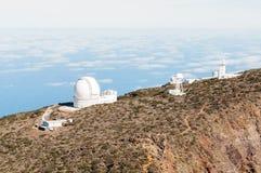 Telescopes in La Palma Royalty Free Stock Photography