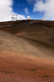 Telescopes on Mauna Kea volcano, Big Island,Hawaii Stock Photos