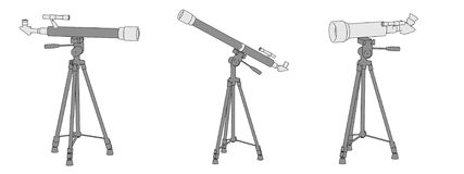 Telescopes (optical devices) Stock Photo