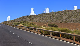 Telescopes of the Teide Astronomical Observatory Stock Images