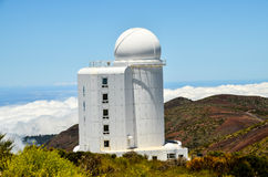 Telescopes of the Teide Astronomical Observatory Royalty Free Stock Image