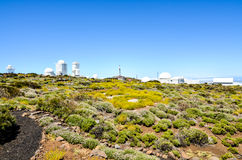 Telescopes of the Teide Astronomical Observatory Royalty Free Stock Photos