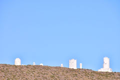 Telescopes of the Teide Astronomical Observatory Stock Photography