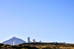 Telescopes of the Teide Astronomical Observatory Royalty Free Stock Images