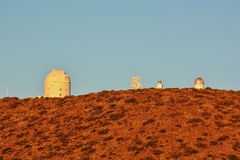 Telescopes of the Teide Astronomical Observatory Stock Image