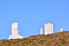 Telescopes of the Teide Astronomical Observatory Stock Photo