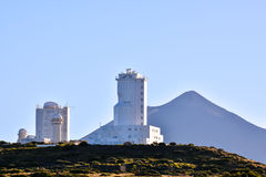 Telescopes of the Teide Astronomical Observatory Royalty Free Stock Photo