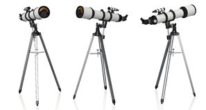 Telescopes on tripod isolated