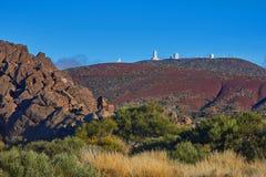Telescopi dell'osservatorio astronomico di Teide in Tenerife, Fotografia Stock