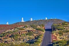 Telescopi dell'osservatorio astronomico di Teide in Tenerife, PS Immagine Stock Libera da Diritti