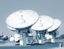 Telescopi di radiofrequenza dello spazio profondo fotografia stock libera da diritti