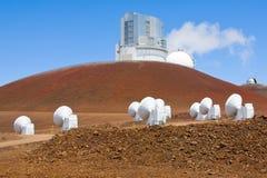 Telescopi su Mauna Kea Fotografia Stock Libera da Diritti