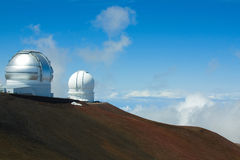 Telescopi su Mauna Kea Immagini Stock Libere da Diritti