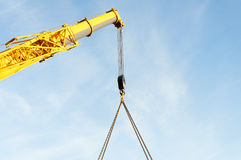 Telescopic boom crane. Royalty Free Stock Image