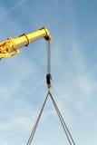 Telescopic boom crane. Royalty Free Stock Photo