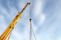 The telescopic boom crane. Royalty Free Stock Photos