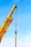 The telescopic boom crane. Royalty Free Stock Images