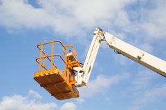 Telescopic crane Royalty Free Stock Photography