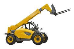 Telescopic handler. Isolated on a white background royalty free stock photos