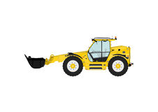 Telescopic handler. On a white background. Flat vector Side view. Flat vector Stock Photo