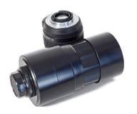 Telescopic lens. Old telescopic lens  on white background Royalty Free Stock Photos