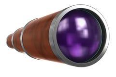 Telescopio-binoculare isolato su priorità bassa bianca Fotografia Stock Libera da Diritti