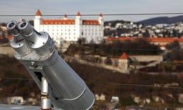 Telescopio & Bratislava, Slovacchia Fotografia Stock Libera da Diritti