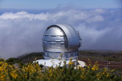 Telescopio Canarias de mamie Image stock