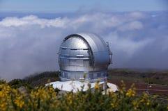 Telescopio Canarias di Gran Immagine Stock