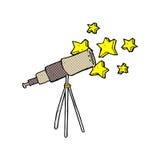telescopio comico del fumetto illustrazione di stock