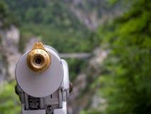 Telescopio de fichas con la alta ampliación Foto de archivo