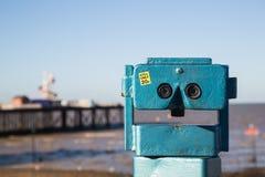 Telescopio de la playa Fotos de archivo libres de regalías