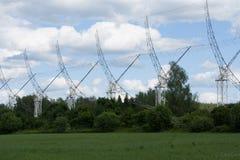 Telescopio de radio en Pushchino foto de archivo libre de regalías