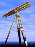 Telescopio dell'annata, Fotografia Stock