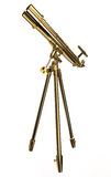 Telescopio dell'oro Immagini Stock Libere da Diritti