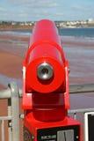 Telescopio della spiaggia Fotografia Stock Libera da Diritti