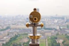 Telescopio en la torre Eiffel, París Imagen de archivo