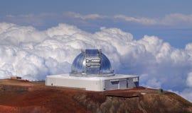 Telescopio en Mauna Kea (Hawaii) Fotografía de archivo libre de regalías