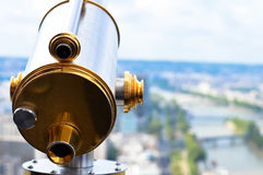 Telescopio en París fotografía de archivo libre de regalías