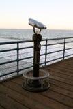 Telescopio en Santa Monica Pier Imagenes de archivo