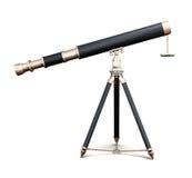 Telescopio isolato su fondo bianco 3d rendono i cilindri di image Fotografie Stock Libere da Diritti