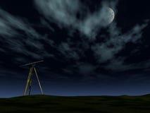 Telescopio nella notte Fotografia Stock