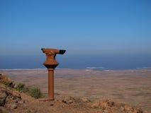 Telescopio sulla cima della montagna Fotografia Stock Libera da Diritti