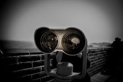 Telescopio sulla grande muraglia Fotografia Stock Libera da Diritti