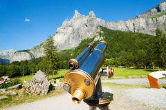 Telescopio turístico Fotografía de archivo libre de regalías
