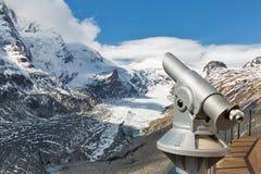 Telescopio turistico in Grossglockner, alte alpi, Austria Fotografia Stock Libera da Diritti